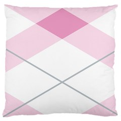 Tablecloth Stripes Diamonds Pink Large Cushion Case (Two Sides)