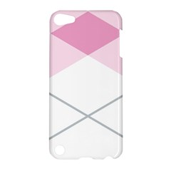 Tablecloth Stripes Diamonds Pink Apple iPod Touch 5 Hardshell Case