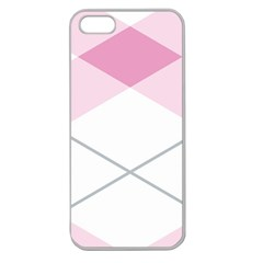Tablecloth Stripes Diamonds Pink Apple Seamless Iphone 5 Case (clear)
