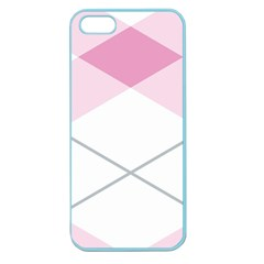 Tablecloth Stripes Diamonds Pink Apple Seamless Iphone 5 Case (color)