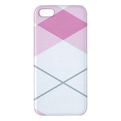 Tablecloth Stripes Diamonds Pink Apple Iphone 5 Premium Hardshell Case
