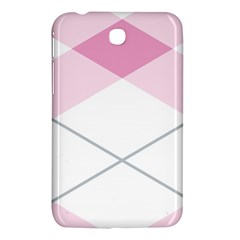 Tablecloth Stripes Diamonds Pink Samsung Galaxy Tab 3 (7 ) P3200 Hardshell Case