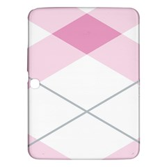 Tablecloth Stripes Diamonds Pink Samsung Galaxy Tab 3 (10 1 ) P5200 Hardshell Case
