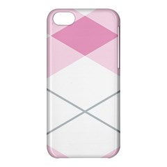 Tablecloth Stripes Diamonds Pink Apple Iphone 5c Hardshell Case
