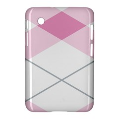 Tablecloth Stripes Diamonds Pink Samsung Galaxy Tab 2 (7 ) P3100 Hardshell Case