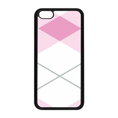 Tablecloth Stripes Diamonds Pink Apple Iphone 5c Seamless Case (black)