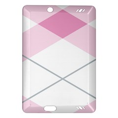 Tablecloth Stripes Diamonds Pink Amazon Kindle Fire Hd (2013) Hardshell Case