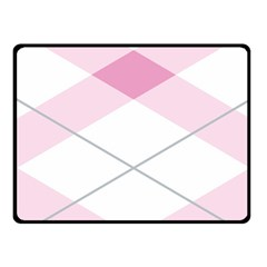 Tablecloth Stripes Diamonds Pink Double Sided Fleece Blanket (small)
