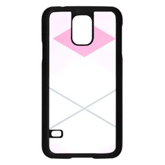 Tablecloth Stripes Diamonds Pink Samsung Galaxy S5 Case (Black)
