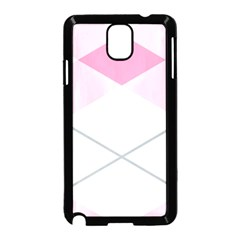Tablecloth Stripes Diamonds Pink Samsung Galaxy Note 3 Neo Hardshell Case (Black)