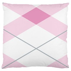 Tablecloth Stripes Diamonds Pink Standard Flano Cushion Case (One Side)