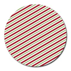Stripes Striped Design Pattern Round Mousepads