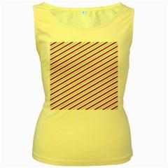 Stripes Striped Design Pattern Women s Yellow Tank Top
