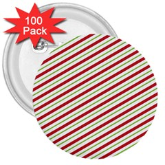 Stripes Striped Design Pattern 3  Buttons (100 Pack)