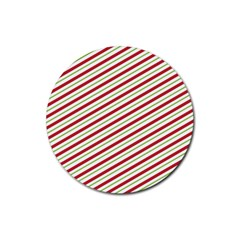 Stripes Striped Design Pattern Rubber Round Coaster (4 Pack)