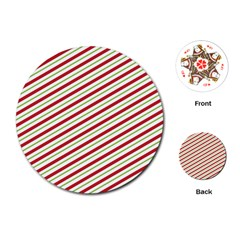 Stripes Striped Design Pattern Playing Cards (Round)