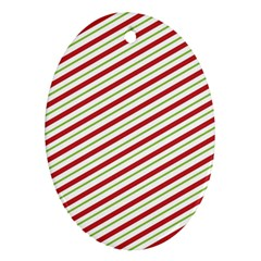 Stripes Striped Design Pattern Oval Ornament (Two Sides)