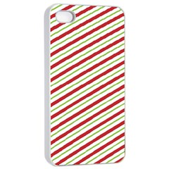 Stripes Striped Design Pattern Apple Iphone 4/4s Seamless Case (white)