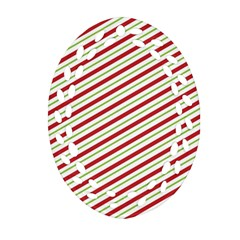 Stripes Striped Design Pattern Ornament (Oval Filigree)