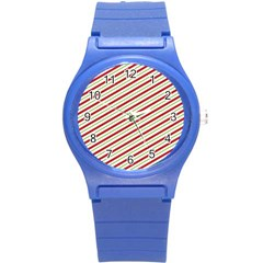 Stripes Striped Design Pattern Round Plastic Sport Watch (s)