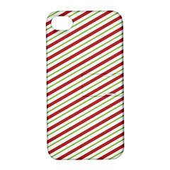 Stripes Striped Design Pattern Apple Iphone 4/4s Hardshell Case With Stand