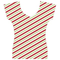 Stripes Striped Design Pattern Women s V-Neck Cap Sleeve Top