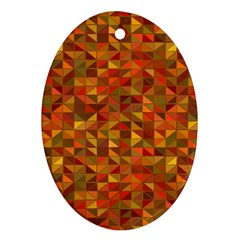 Gold Mosaic Background Pattern Ornament (oval)