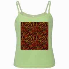 Gold Mosaic Background Pattern Green Spaghetti Tank