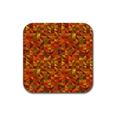 Gold Mosaic Background Pattern Rubber Square Coaster (4 pack)