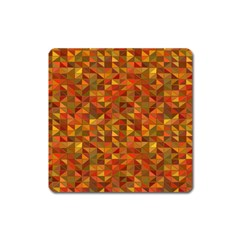 Gold Mosaic Background Pattern Square Magnet