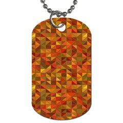 Gold Mosaic Background Pattern Dog Tag (two Sides)