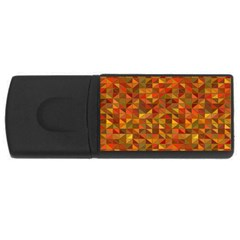 Gold Mosaic Background Pattern USB Flash Drive Rectangular (1 GB)