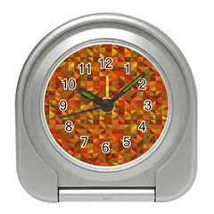 Gold Mosaic Background Pattern Travel Alarm Clocks
