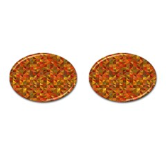 Gold Mosaic Background Pattern Cufflinks (oval)