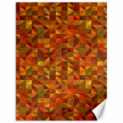 Gold Mosaic Background Pattern Canvas 18  x 24