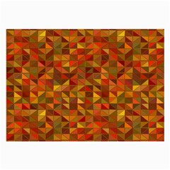 Gold Mosaic Background Pattern Large Glasses Cloth (2-Side)