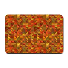 Gold Mosaic Background Pattern Small Doormat