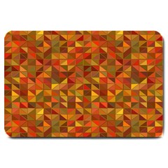 Gold Mosaic Background Pattern Large Doormat