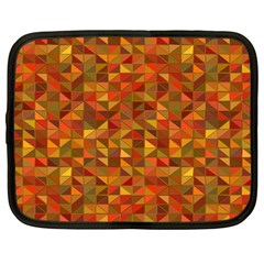 Gold Mosaic Background Pattern Netbook Case (Large)