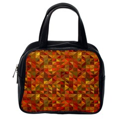 Gold Mosaic Background Pattern Classic Handbags (one Side)