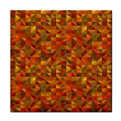 Gold Mosaic Background Pattern Face Towel