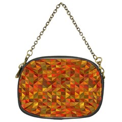 Gold Mosaic Background Pattern Chain Purses (one Side)