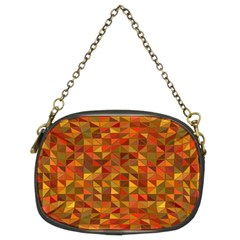 Gold Mosaic Background Pattern Chain Purses (two Sides)