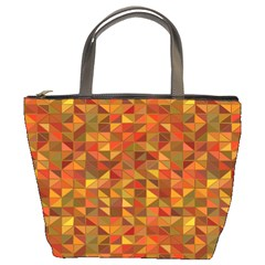 Gold Mosaic Background Pattern Bucket Bags