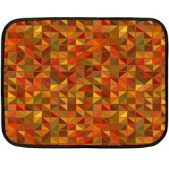 Gold Mosaic Background Pattern Fleece Blanket (mini)