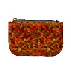 Gold Mosaic Background Pattern Mini Coin Purses