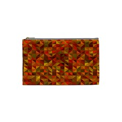 Gold Mosaic Background Pattern Cosmetic Bag (Small)