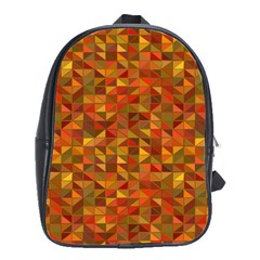 Gold Mosaic Background Pattern School Bags(Large)
