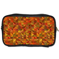 Gold Mosaic Background Pattern Toiletries Bags