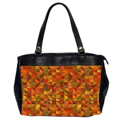 Gold Mosaic Background Pattern Office Handbags (2 Sides)